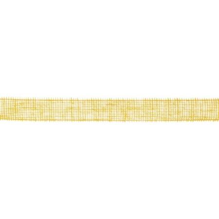 Ruban jute 50mm 40m jaune clair