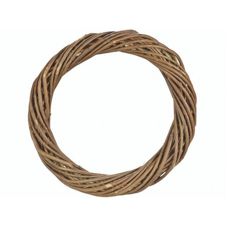 Couronne en osier naturel 16cm