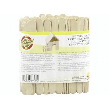 Baguettes en bois 100pc