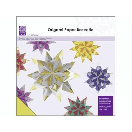 Papier origami transp.20x20 jaune