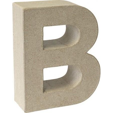 Lettre 3D papier mâché B 17,5x5,5cm
