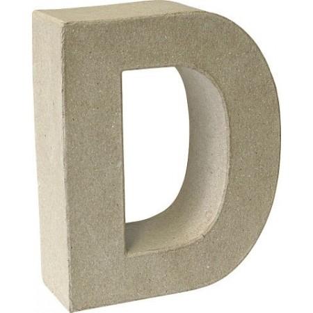 Lettre 3D papier mâché D 17,5x5,5cm