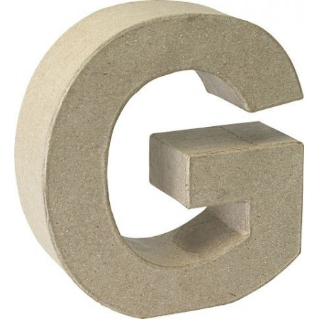 Lettre 3D papier mâché G 17,5x5,5cm