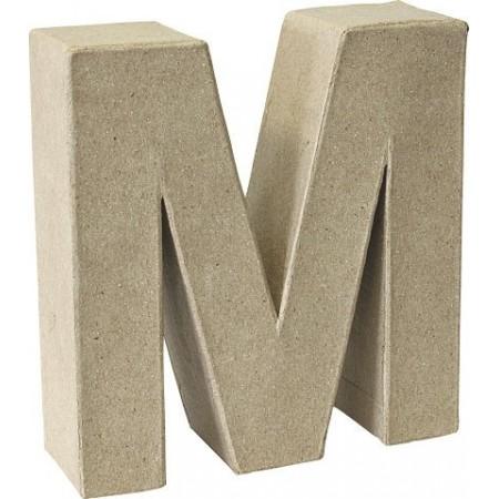 Lettre 3D papier mâché M 17,5x5,5cm