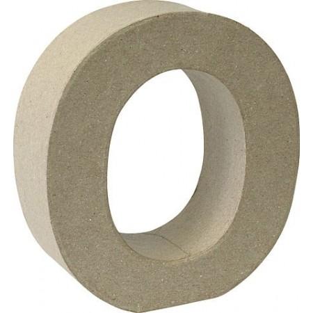 Lettre 3D papier mâché O 17,5x5,5cm