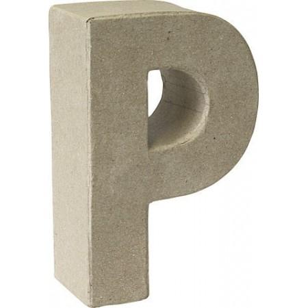 Lettre 3D papier mâché P 17,5x5,5cm