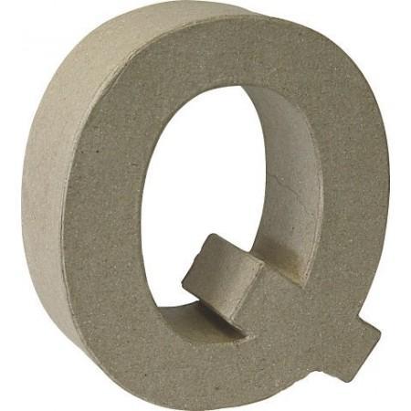 Lettre 3D papier mâché Q 17,5x5,5cm