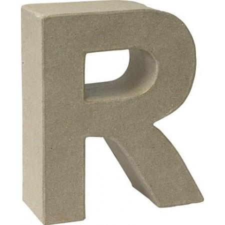 Lettre 3D papier mâché R 17,5x5,5cm