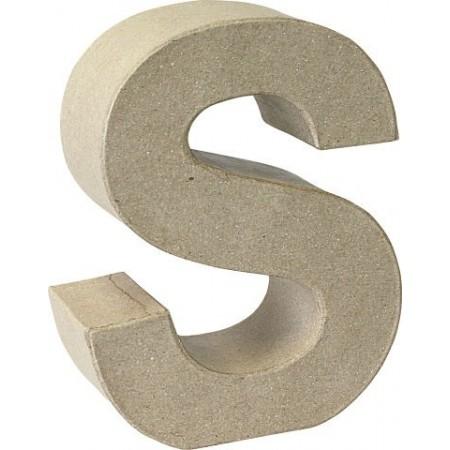Lettre 3D papier mâché S 17,5x5,5cm