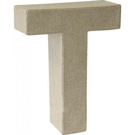 Lettre 3D papier mâché T 17,5x5,5cm