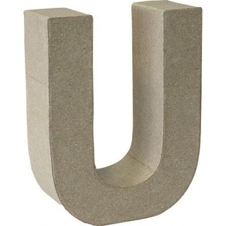 Lettre 3D papier mâché U 17,5x5,5cm