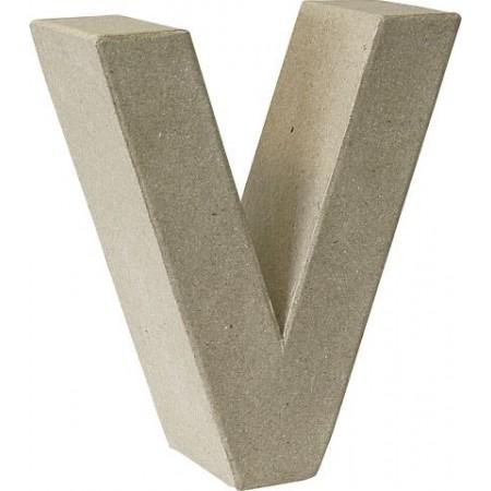 Lettre 3D papier mâché V 17,5x5,5cm