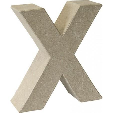Lettre 3D papier mâché X 17,5x5,5cm