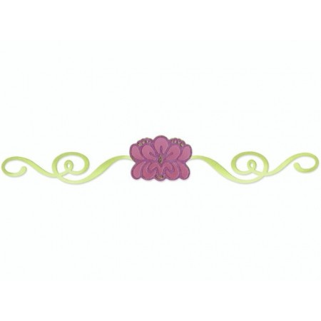 Sizzlits Deco Strip Die Matr.Flower
