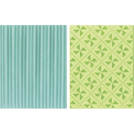 Plaque gaufr. Pinwheels et Stripes