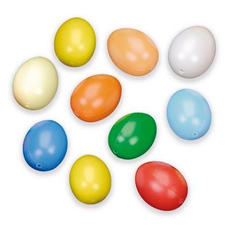 Oeufs en plastique multi 60 x 45 mm 10 pces