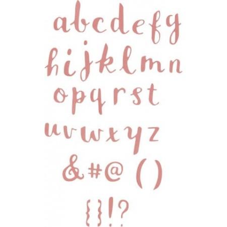 ThinlitsDie Brush Lowercase Alphabet 38p