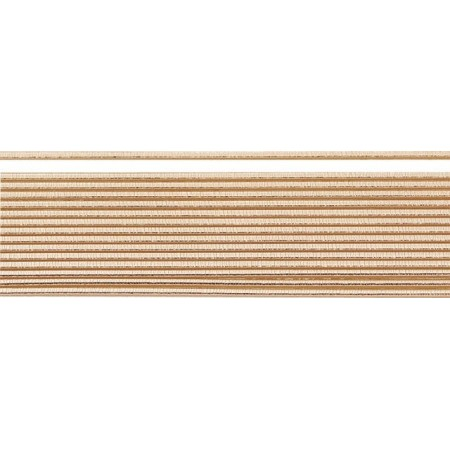 Bandes rondes cire 2mm20cm or rose 15pc