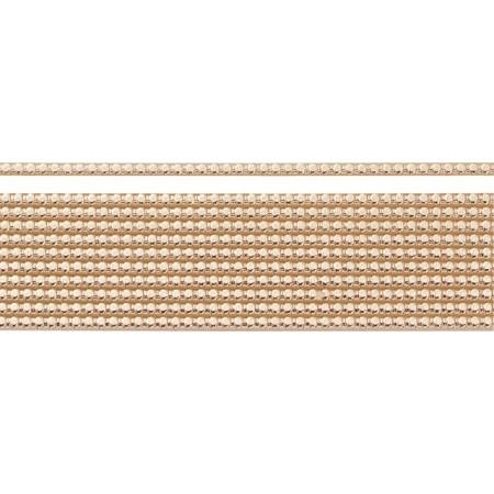 Bande perles en cire 2mm20cm or rose 11p