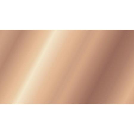 Plaque en cire 17,5x8cm or rose brill.