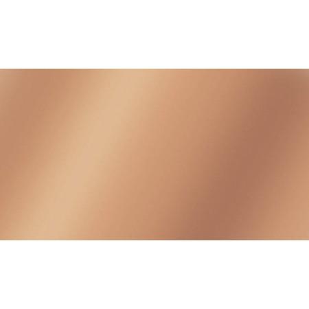 Plaque en cire 17,5x8cm or rose 2pc