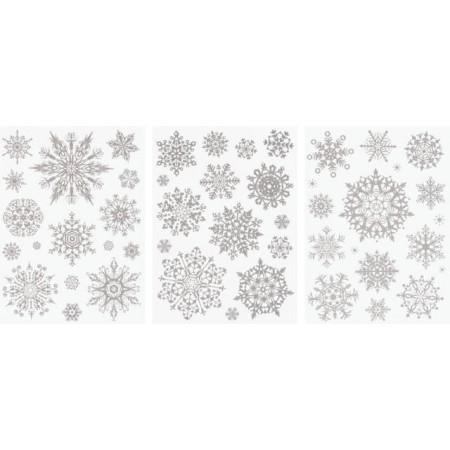 Sticker pour fenêtre Étoile argent
