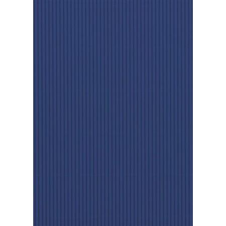 Carton ondulé 50x70 300g bleu cobalt