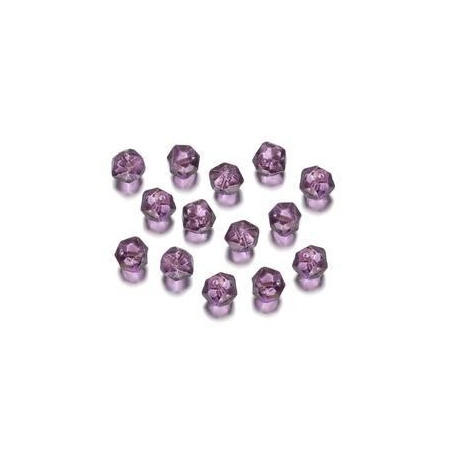 Perles polies Antique pourpre 7 mm