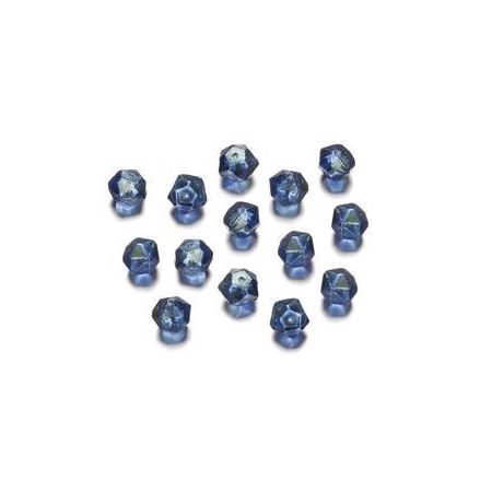 Perles polies Antique bleu 7 mm