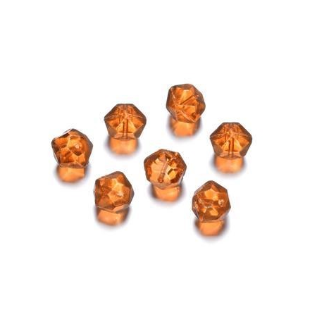 Perles polies Antique orange 12 mm