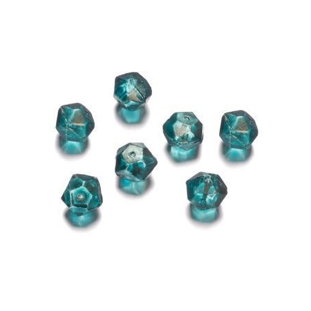 Perles polies Antique turquoise 12 mm