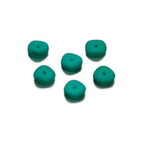 Perles mates vague bleu pétrole 4 x 10 mm
