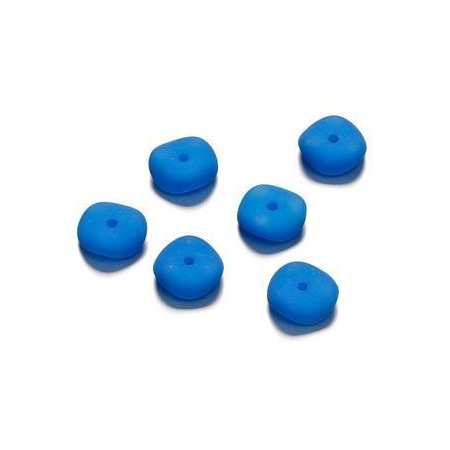 Perles mates vague bleu 4 x 10 mm