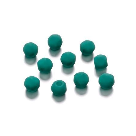 Perles angulaire mate bleu pétrole 5.5 mm