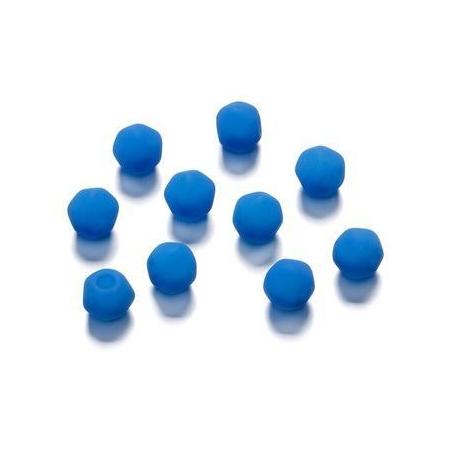 Perles angulaire mate bleu 5.5 mm