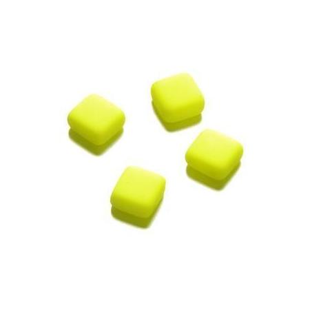 Perle néon Duo Beads Square 6x6 mm jaune