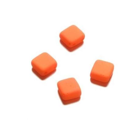 Perle néon Duo Beads Square 6x6 mm orange