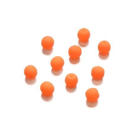 Perle néon 4 mm orange