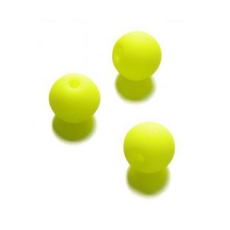 Perle néon 10 mm jaune