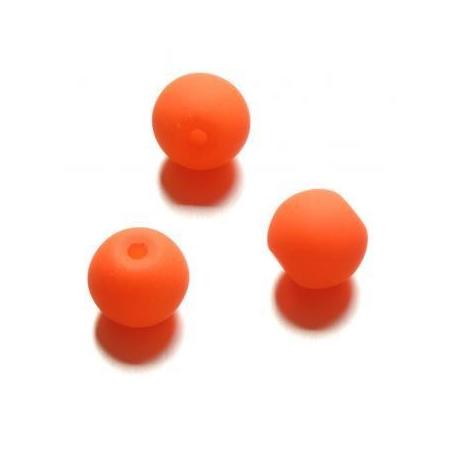 Perle néon 10 mm orange