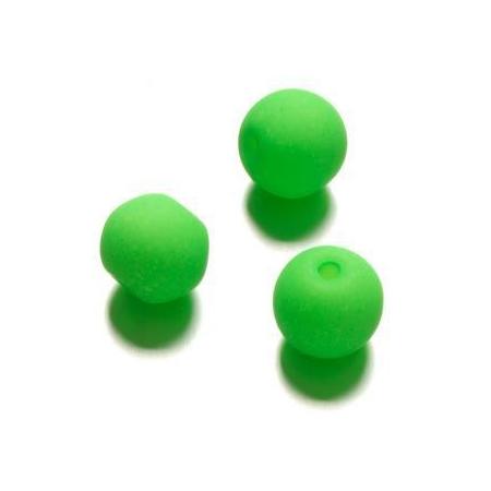 Perle néon 10 mm vert