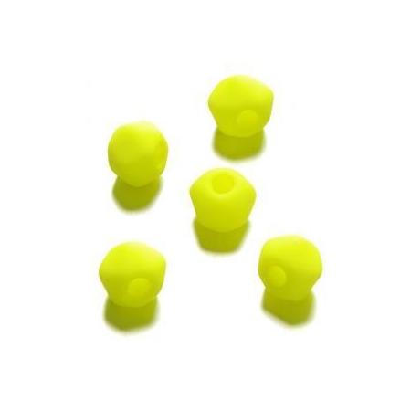Perle néon angulaire 7 mm jaune