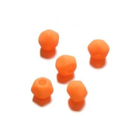 Perle néon angulaire 7 mm orange