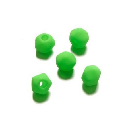 Perle néon angulaire 7 mm vert