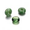 Mix perles verre avec grand trou vert