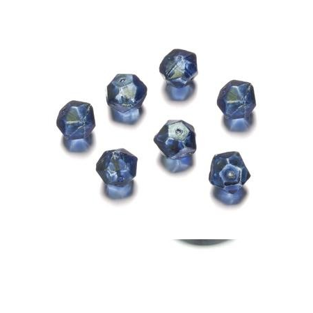 Perles polies Antique bleu 12 mm