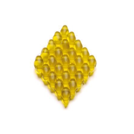 Duo Beads 2 trous 2,5 x 5 mm topaze mat transparent 12g