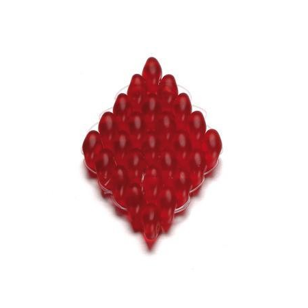 Duo Beads 2 trous 2,5 x 5 mm rouge transparent 12g