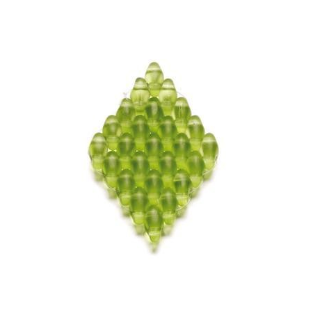 Duo Beads 2 trous 2,5 x 5 mm vert clair mat transparent 12g