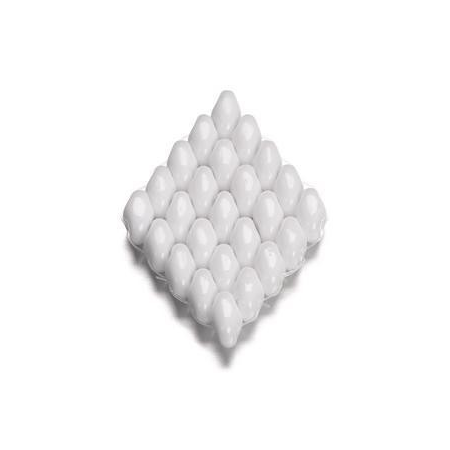 Duo Beads 2 trous 2,5 x 5 mm blanc opaque 12g